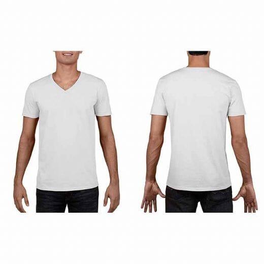 Maglietta Gildan Soft-Style da uomo collo a V - 1