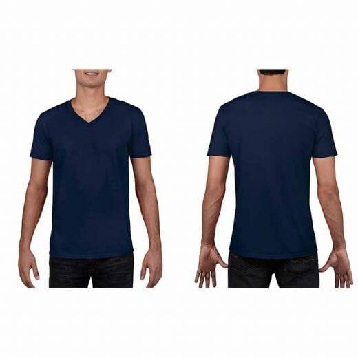 Maglietta Gildan Soft-Style da uomo collo a V - 11