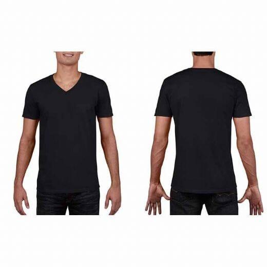 Maglietta Gildan Soft-Style da uomo collo a V - 21