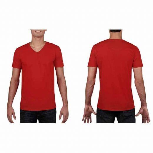 Maglietta Gildan Soft-Style da uomo collo a V - 6