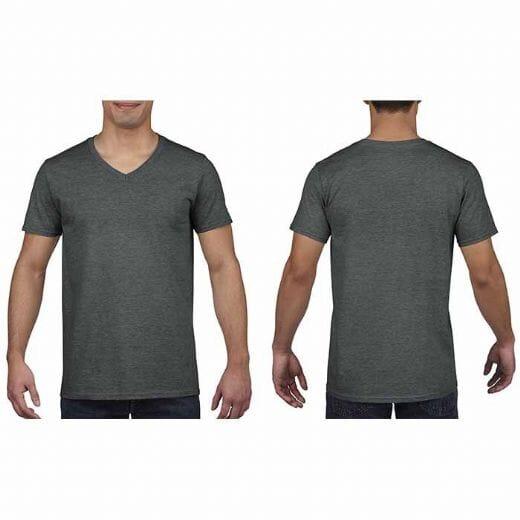 Maglietta Gildan Soft-Style da uomo collo a V - 31