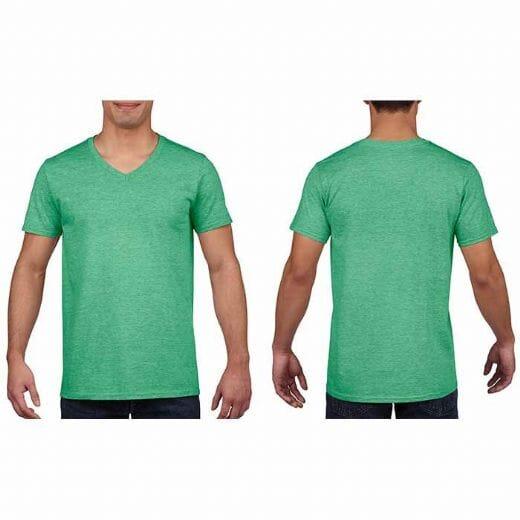 Maglietta Gildan Soft-Style da uomo collo a V - 16