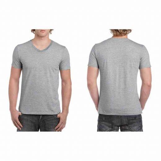 Maglietta Gildan Soft-Style da uomo collo a V - 26