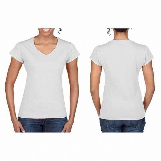 Magliette Gildan collo a V SOFT STYLE da donna - 1