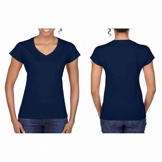 Magliette Gildan collo a V SOFT STYLE da donna - 11