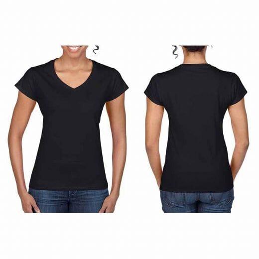 Magliette Gildan collo a V SOFT STYLE da donna - 16
