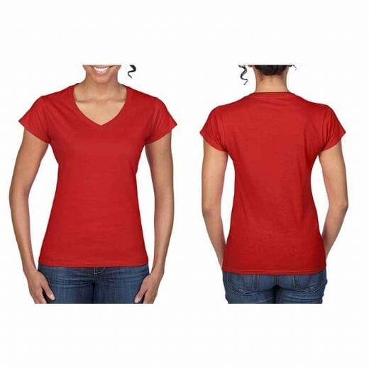 Magliette Gildan collo a V SOFT STYLE da donna - 6