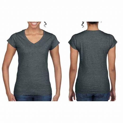 Magliette Gildan collo a V SOFT STYLE da donna - 21