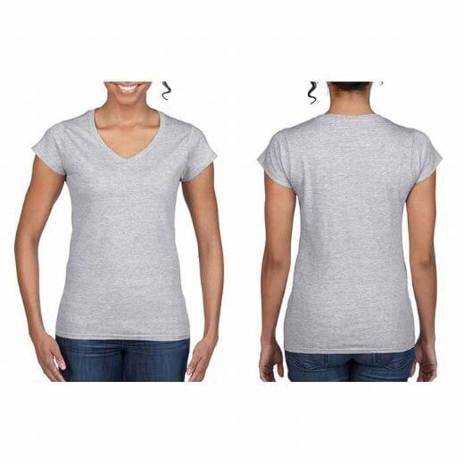 Magliette Gildan collo a V SOFT STYLE da donna - 26