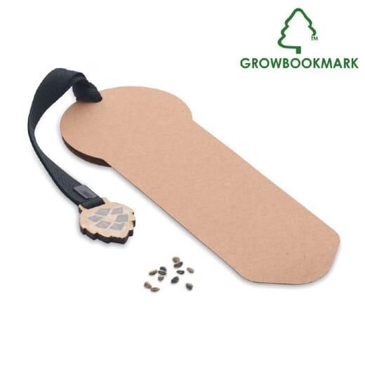 Segnalibro in legno di pino GROWBOOKMARK - 1