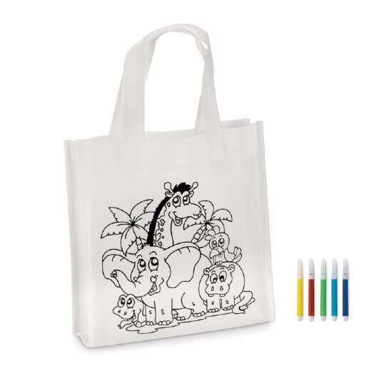 Mini borsa shopper da colorare SHOOPIE - 1