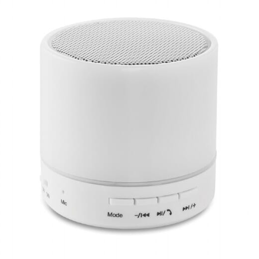 Speaker Bluetooth con LED  ROUND WHITE - 1