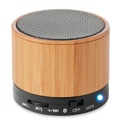 Speaker bluetooth in bamboo ROUND BAMBOO - 2