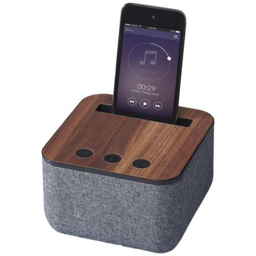 Speaker Bluetooth© in tessuto e legno SHAE - 1