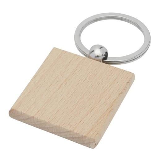 Portachiavi quadrato in legno di faggio GIOIA - 1