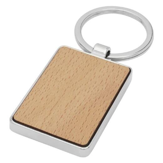 Portachiavi rettangolare in legno di faggio MAURO - 1